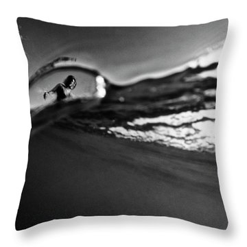 Bubble Surfer Throw Pillow