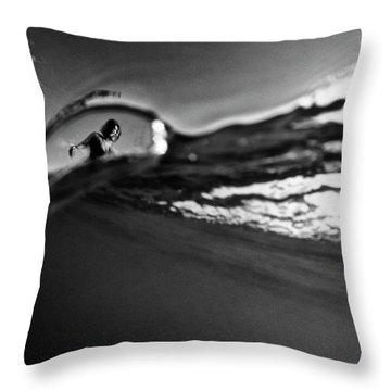 Bubble Surfer Throw Pillow