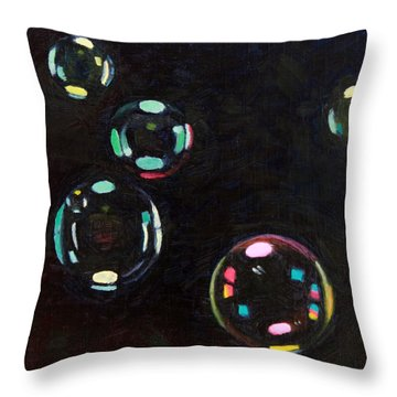 Bubble Study 01 Throw Pillow by Guenevere Schwien