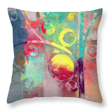 Throw Pillow featuring the painting Bubble Tree - 285l by Variance Collections