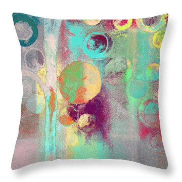 Throw Pillow featuring the digital art Bubble Tree - 285r by Variance Collections