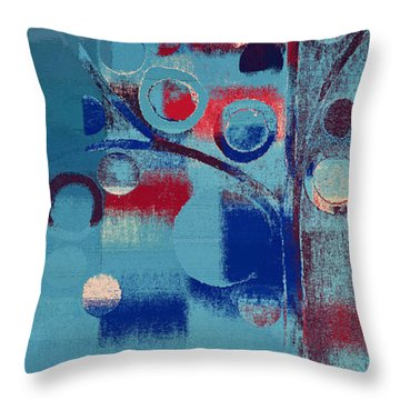 Throw Pillow featuring the painting Bubble Tree - 85e-j4 by Variance Collections