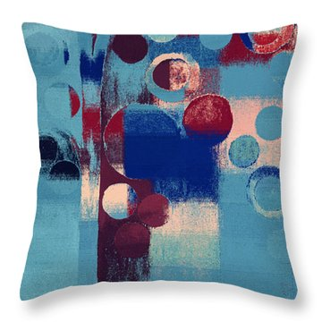 Throw Pillow featuring the painting Bubble Tree - 85l-j4 by Variance Collections