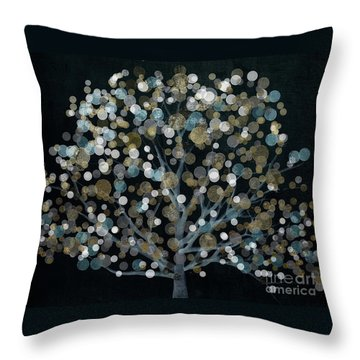 Bubble Tree Night Throw Pillow by Mindy Sommers