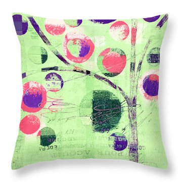 Throw Pillow featuring the digital art Bubble Tree - 224c33j5l by Variance Collections