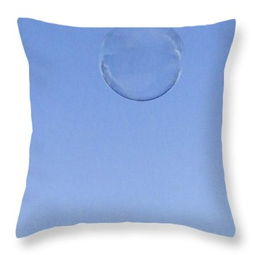 Throw Pillow featuring the photograph Bubbled by Rasma Bertz