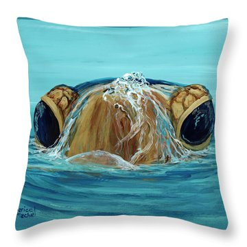 Throw Pillow featuring the painting Bubbles by Darice Machel McGuire