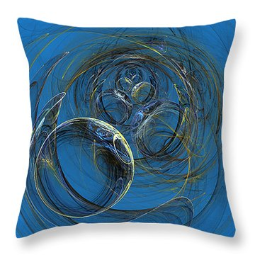 Bubbles H2o Throw Pillow