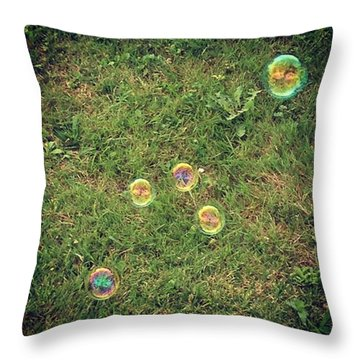Bubbles!! Hard At Work Or Having Fun Throw Pillow