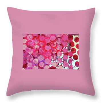 Throw Pillow featuring the mixed media Bubbles by Mary Ellen Frazee