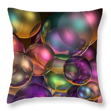 Bubbles Overall Throw Pillow