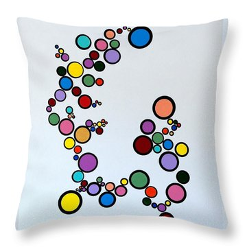 Bubbles2 Throw Pillow