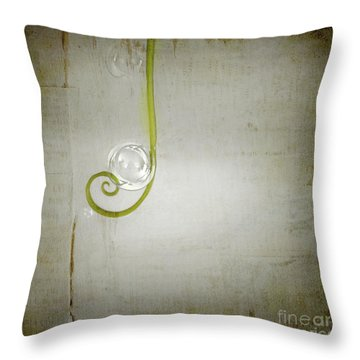 Throw Pillow featuring the digital art Bubbling - 02tt04a by Variance Collections