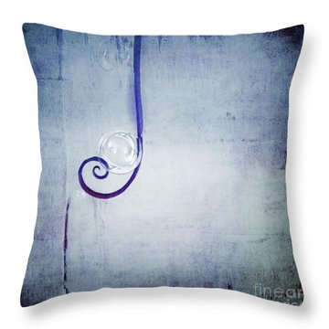 Throw Pillow featuring the digital art Bubbling - 033a by Variance Collections