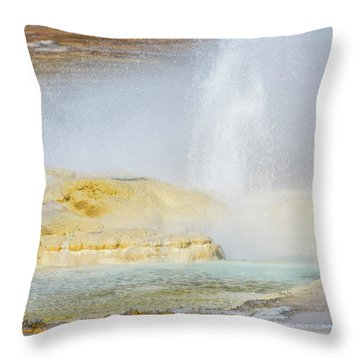 Throw Pillow featuring the photograph Bubbling Earth by Colleen Coccia