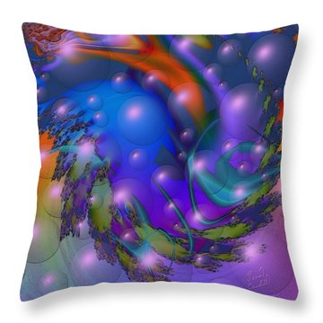 Bubbling Over With Enthusiasim Throw Pillow