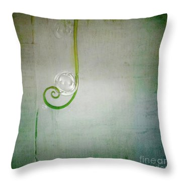 Throw Pillow featuring the digital art Bubbling -  S24aabbcc by Variance Collections