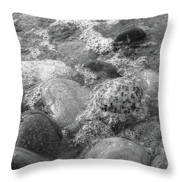 Bubbling Stones Throw Pillow