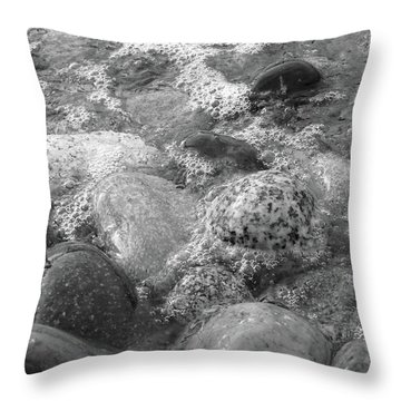 Bubbling Stones Throw Pillow
