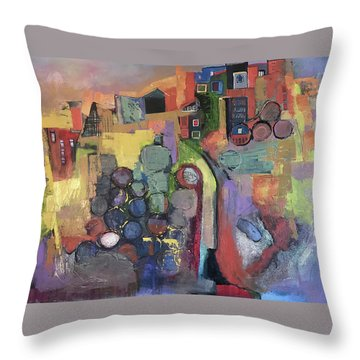 Bubbling Up Throw Pillow