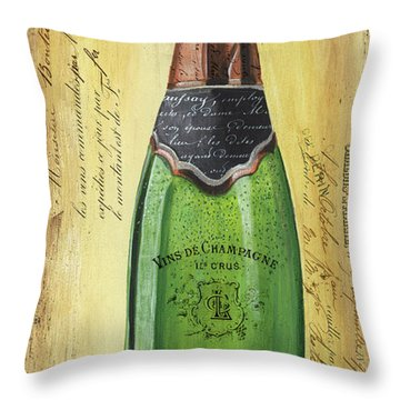 Bubbly Champagne 2 Throw Pillow