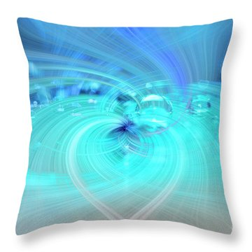 Throw Pillow featuring the photograph Bubbly Heart by Wanda Krack