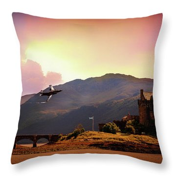 Bucc At The Castle Throw Pillow