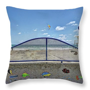 Buccaneer Beach Throw Pillow
