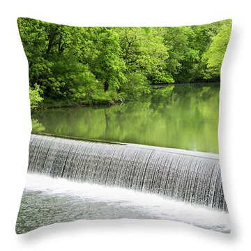 Throw Pillow featuring the photograph Buck Creek Greens by Parker Cunningham