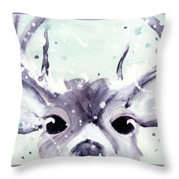 Throw Pillow featuring the painting Buck by Dawn Derman
