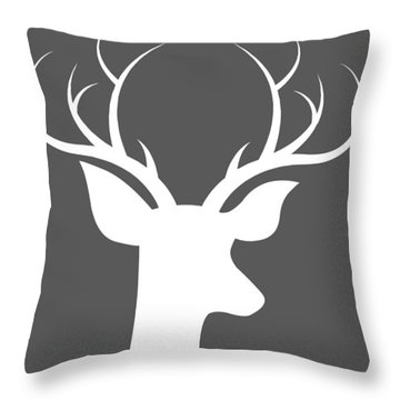 Buck Deer Throw Pillow by Chastity Hoff