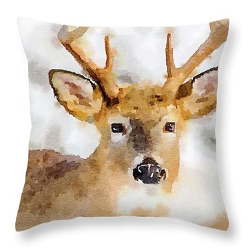 Buck Profile Throw Pillow