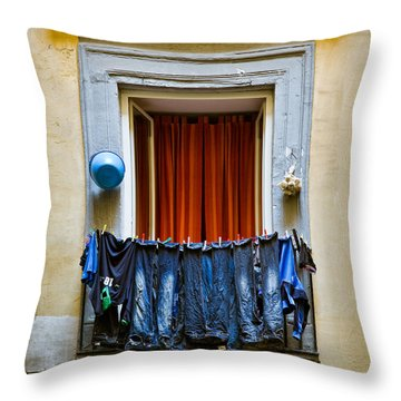 Bucket - Garlic And Jeans Throw Pillow by Dave Bowman