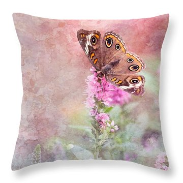 Throw Pillow featuring the photograph Buckeye Bliss by Betty LaRue