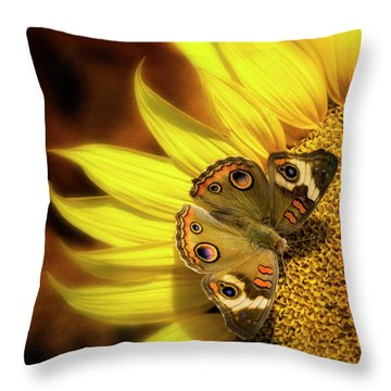 Buckeye Summer Throw Pillow