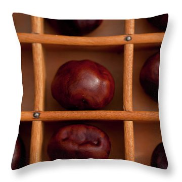 Buckeyes Throw Pillow by Wilma  Birdwell