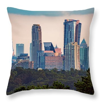 Buckhead Atlanta Skyline Throw Pillow