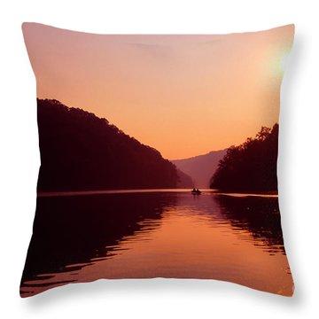 Throw Pillow featuring the photograph Buckhorn Lake Sunset by Thomas R Fletcher