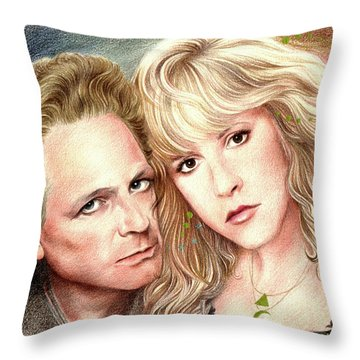 Buckingham Nicks Throw Pillow