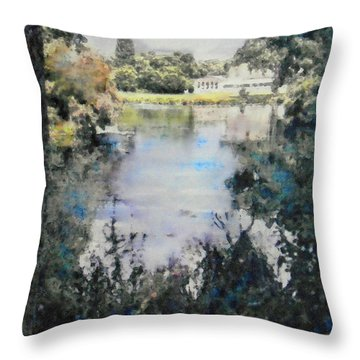 Buckingham Palace Garden - No One Throw Pillow by Richard James Digance