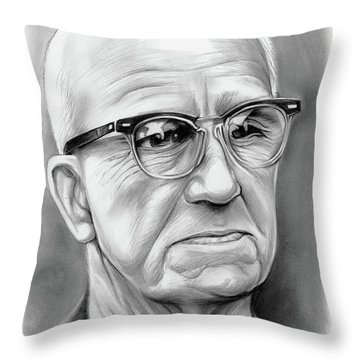 Buckminster Fuller Throw Pillow