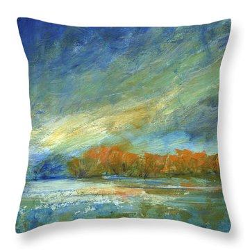 Bucks County Autumn Throw Pillow by Addie Hocynec