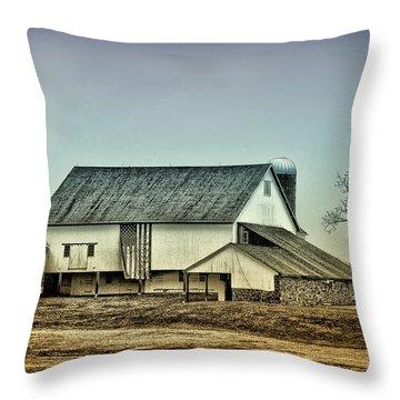 Bucks County Farm Throw Pillow by Bill Cannon