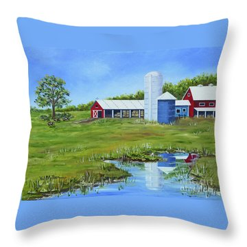 Bucks County Farm Throw Pillow