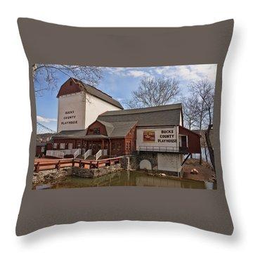 Bucks County Playhouse I Throw Pillow