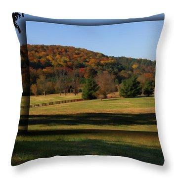 Bucks Mountain In Autumn Throw Pillow