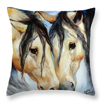 Buckskin Friends Throw Pillow