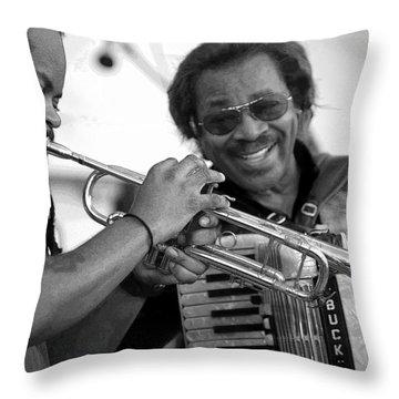 Buckwheat Zydeco Throw Pillow by Jim Mathis