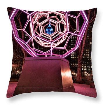 bucky ball Madison square park Throw Pillow by John Farnan