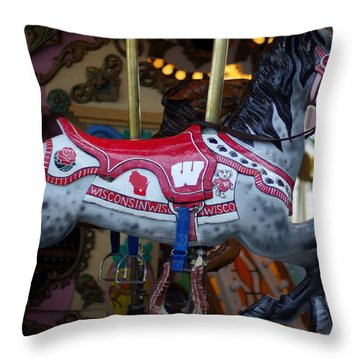 Bucky Throw Pillow by Linda Mishler